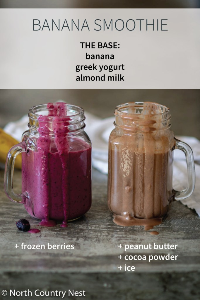 Two Gluten Free Banana Smoothie Recipes | North Country Nest