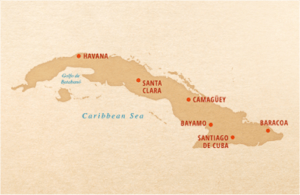 Map of Cuba and Major Cuban Cities