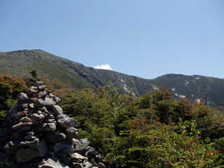 View of Franconia Ridge from the Old Bridle Path Trail.