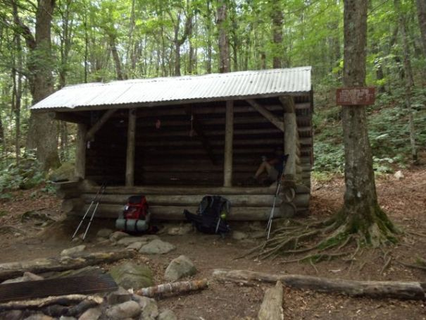 The Frye Notch Shelter. Beware of moose.