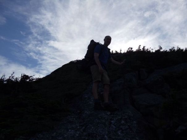 Early morning climb of Old Speck Mountain on the Maine Appalachian Trail.