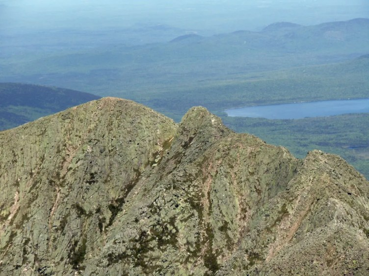 View of Knife Edge from Katahdin's South Peak.