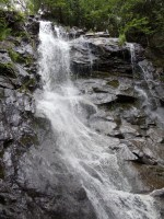 Lone Mountain waterfall on Maine Appalachian Trail hike