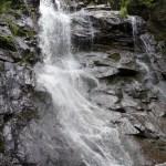 Lone Mountain waterfall on Maine Appalachian Trail hike