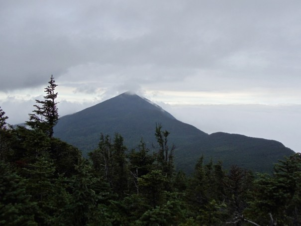 West Peak of Bigelow Mountain from the South Horn; Maine Appalachian Trail hike