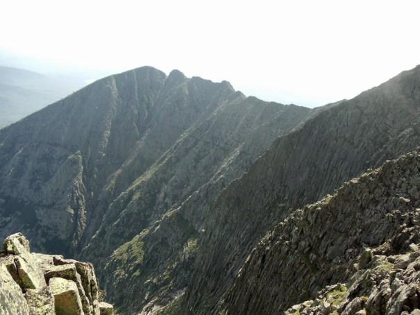 View of Knife Edge from summit of Katahdin; Maine Appalachian Trail hike