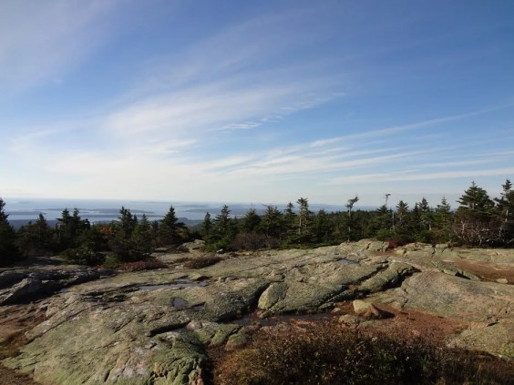 Cadillac Mountain View in Acadia National Park