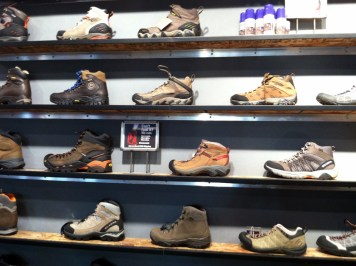 EMS Hiking Boot Display