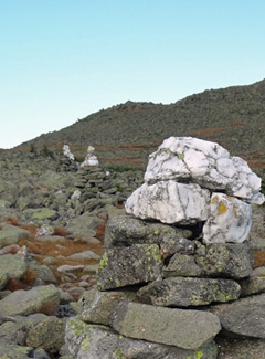 Mt. Adams cairns on NH Appalachian Trail