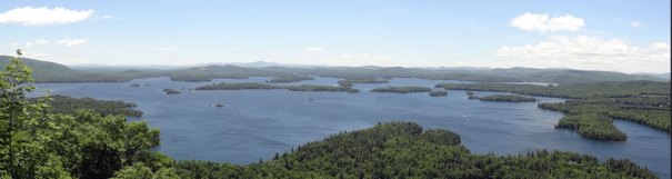 West Rattlesnake Summit View of Squam Lakes