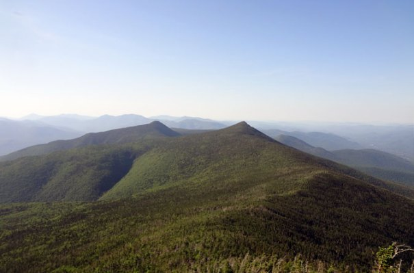Little Haystack Mountain view of Mt. Liberty and Mt. Flume