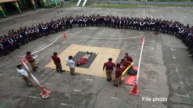 Nagaland State Disaster Management Authority (NSDMA) conducts mega mock drill