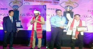 Film Director Dilip Kumar Morang awarded with Karbug Takar Award 2017