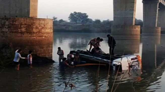 Rajasthan: 30 killed after Bus falls off bridge