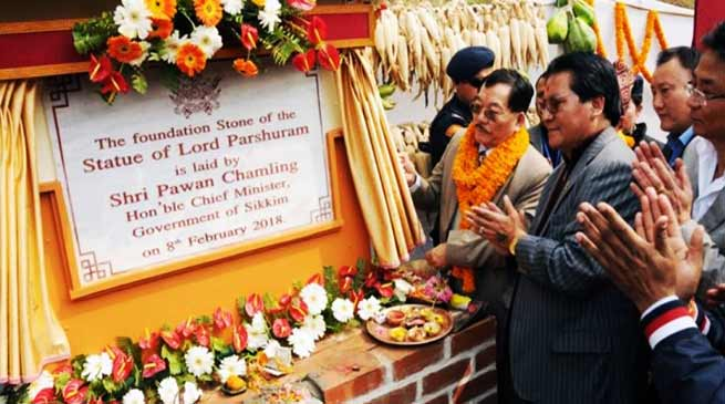 Sikkim: CM lays foundation of India's Tallest and Biggest Lord Parshuram Statue