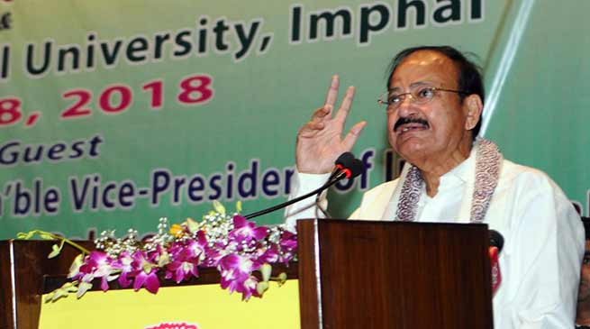 Manipur: Equip farmers with knowledge, insights and products-  M. Venkaiah Naidu