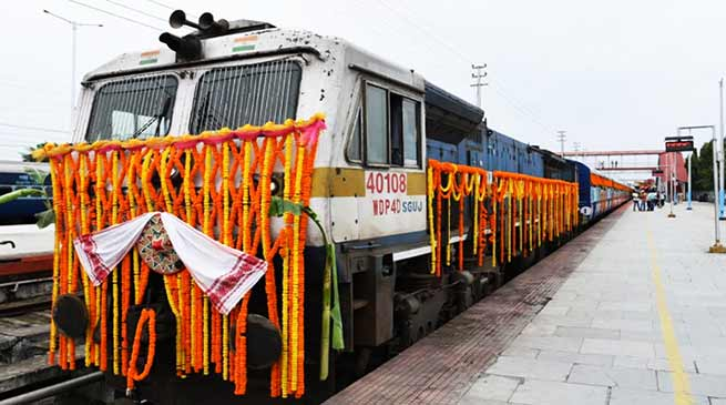 Assam: Sonowal flagged off Dibrugarh - Silchar new express train