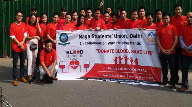 Our aim in Delhi, no NE patients die for want of blood in any hospital- Robin Hibu