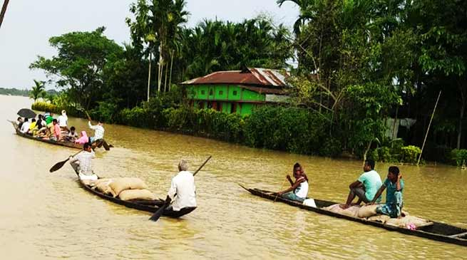 Assam: Keshab Mahanta visits flood hit Barak Valley