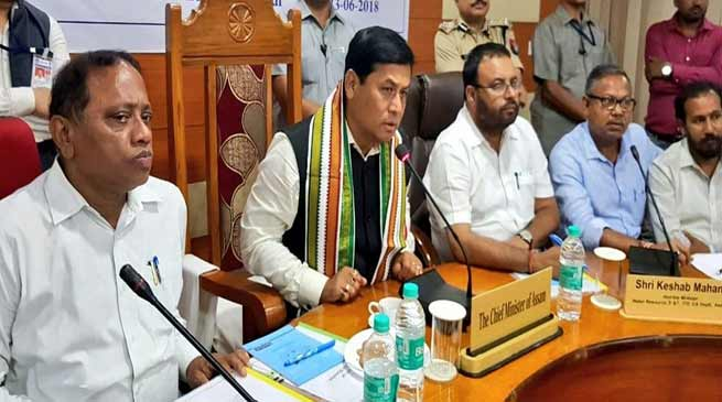 Assam: CM reviews flood situation in Hailakandi district