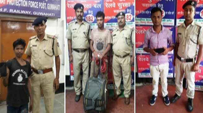 Assam:  RPF – NF Railway arrests 61 criminals on charges of theft