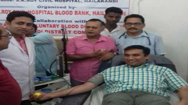 Assam: Blood donation camp organised at SK Roy Civil Hospital