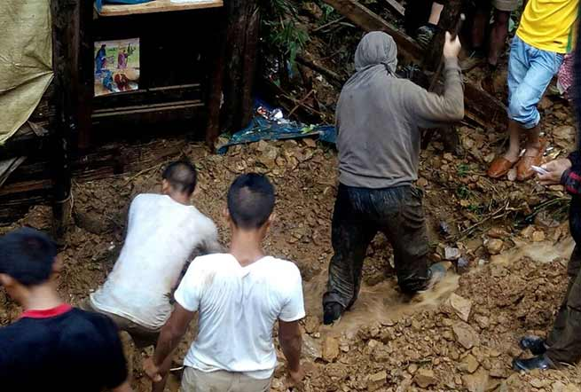 Manipur:  9 including 8 children killed  in a massive landslide in Tamenglong