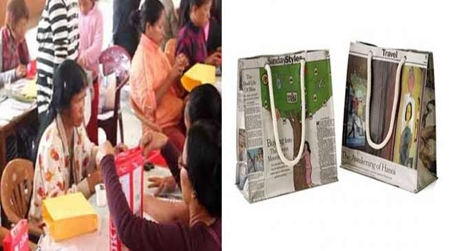 Mizoram: Women goes for echo friendly paper bags