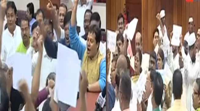 Assam: Opposition protests against NRC and rising fuel prices in Assembly