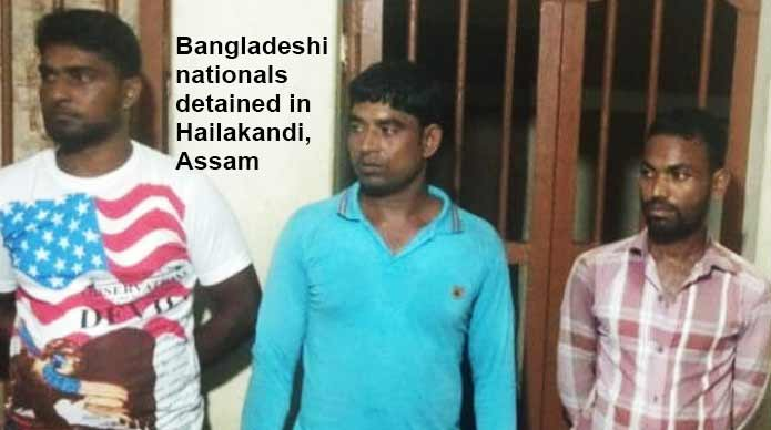 Assam police detained 3 Bangladeshi nationals in Hailakandi for violating Passport Act