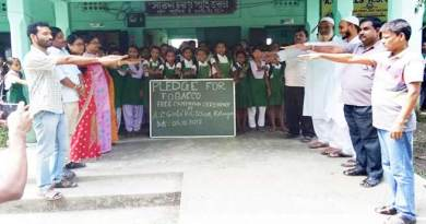 Assam:  Tobacco-free youth campaign organised in Hailakandi district