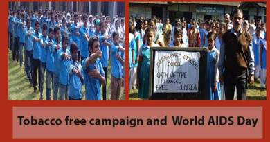 Assam: Tobacco free campaign, World AIDS Day observed in Hailakandi Schools