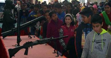 Meghalaya: Military equipment and band display at Shillong