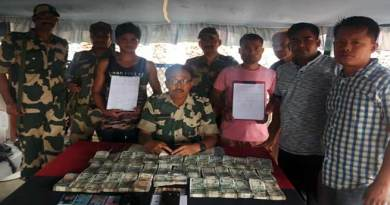 Meghalaya: BSF nabbed persons with huge hawala money