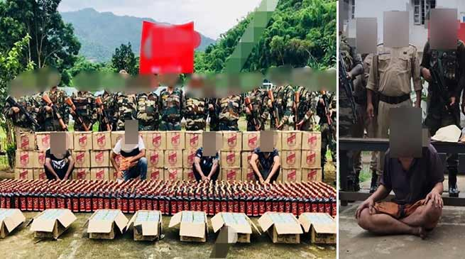 Manipur:Assam Rifles seized huge quantities of drugs and contraband items