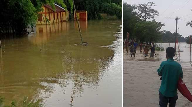 Assam: Major breach at Mohanpur inundates many areas in Hailakandi district