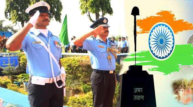 Kargil Vijay Diwas Celebrated at Air Force Station Guwahati and Silchar