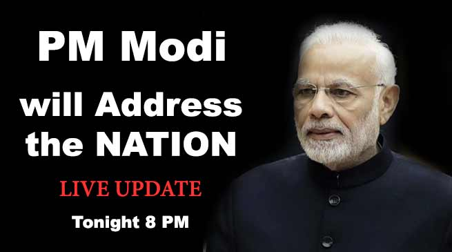 Prime Minister Narendra Modi to address the Nation- LIVE
