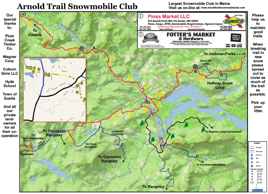 Hampshire New Snowmobile Map