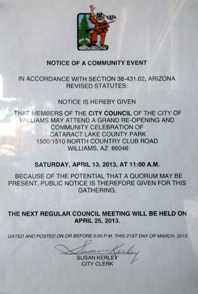 Free food? Where will the city council be?
