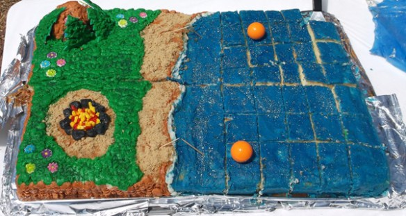 The celebratory cake was baked and decorated by the Freshman class of the Williams High School.