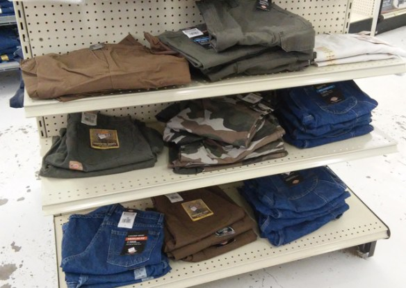 They also carry the Dickies line of work shirts, pants and shorts.