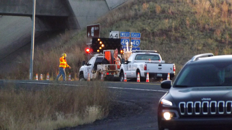I-40 closed due to multi-vehicle accident