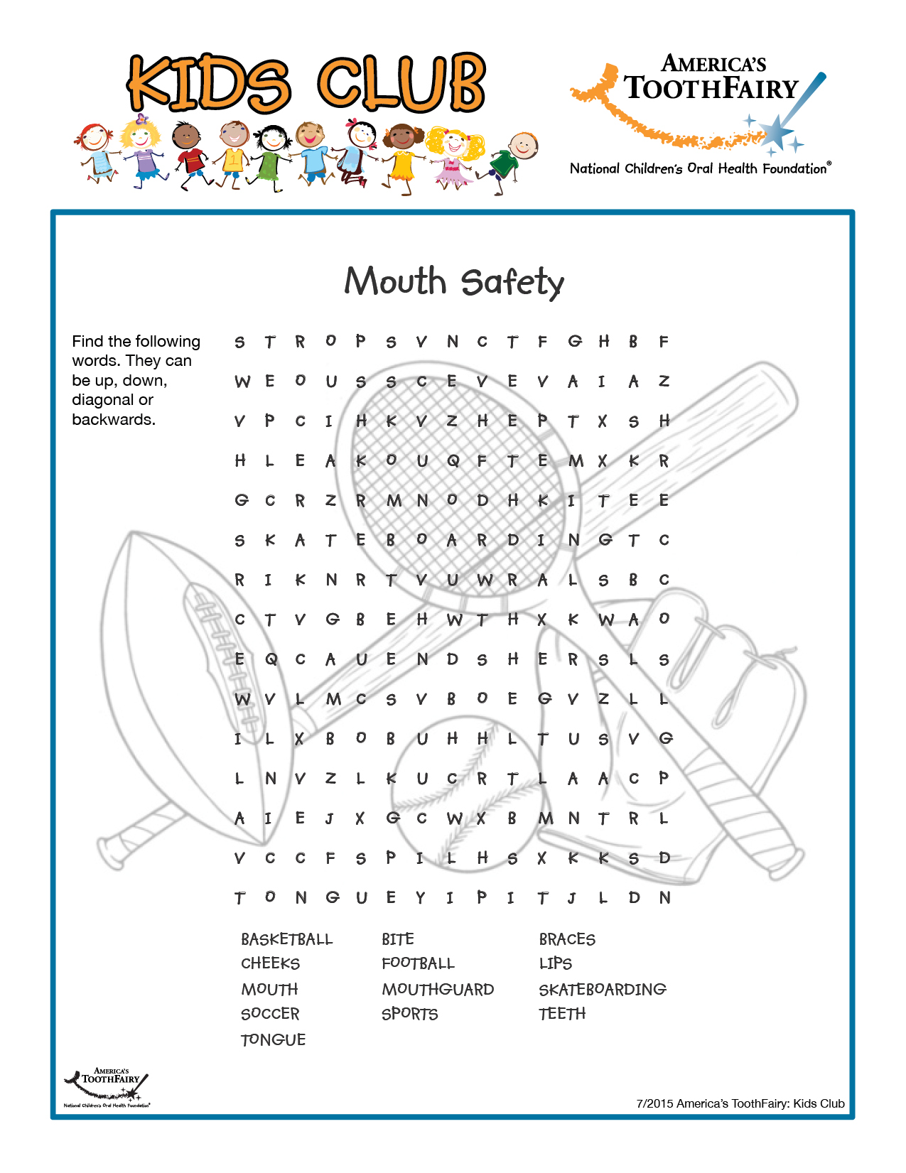 All About My Teeth Worksheet