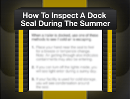 Dock Seals and Shelters Can Make All The Difference