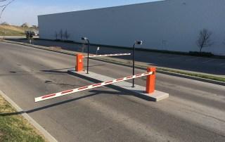 FAAC swing arm barrier gate