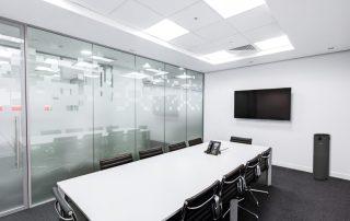 Meeting or board room with black JADE UV air purifier