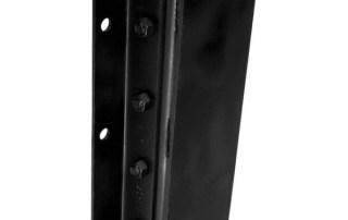 Steel face dock bumper black