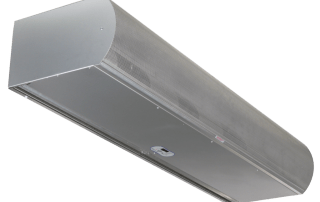Architectural low profile air curtain 10 inch