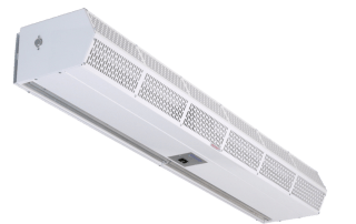 Commercial low profile air curtain white